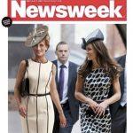 Couverture du Newsweek avec Lady Di et Kate Middleton