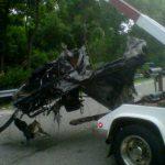 La voiture de Ryan Dunn après son accident