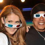 Céline Dion porte des lunettes 3D
