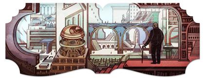 Logo Google de Jorge Luis Borges