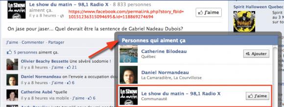 Radio X aime la Sodomie sévère pour Gabriel Nadeau-Dubois