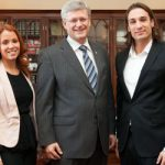 Stephen Harper et les gagnants d'Occupation Double