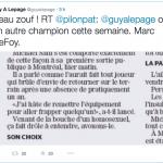 Guy A. Lepage commente l'article de Marc De Foy sur Twitter