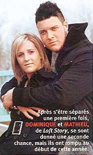 Dominique et Mathieu de Loft Story