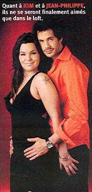 Kim et Jean-Philippe de Loft Story
