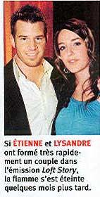 Lysandre et Étienne, notre couple quétaine favoris de Loft Story